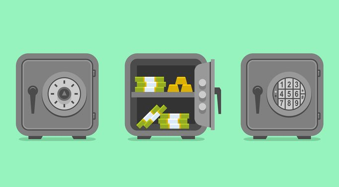 two different types of safes with different locks
